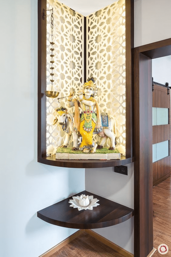 Contemporary Pooja Room Designs: Innovative Pooja Room Design Ideas For Apartments