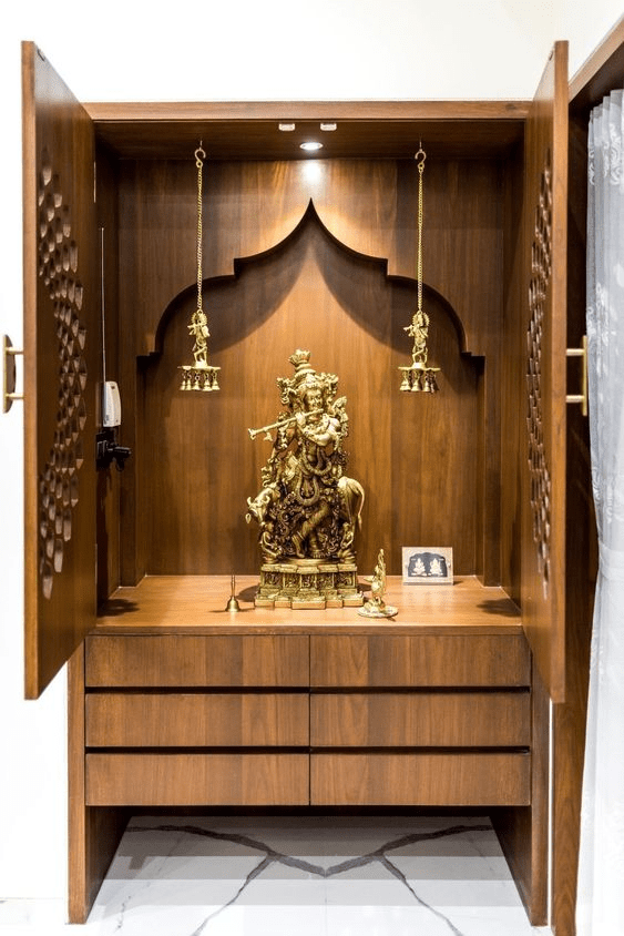 Pooja Room In Cupboard